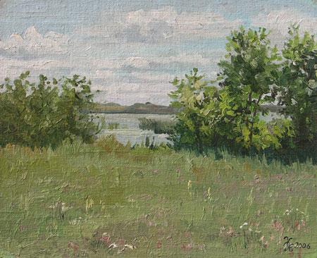 Наталия Новикова. Лето. 25х20 см, х.м., 2006 г. /можно купить/