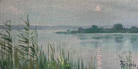 Наталия Новикова. Лунная дорожка. 10х20, х.м., 2006 /продано/
