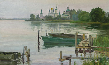 Наталия Новикова. Ростов. 30х50 см, х.м., 2006 /продано/