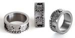 Подвижное кольцо с шестеренками
