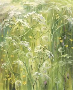 Наталия Новикова. Картина «Одуванчики». Х. м., 60х50 см, 2000 г.