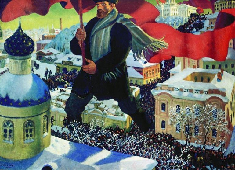 Борис Кустодиев. Большевик.