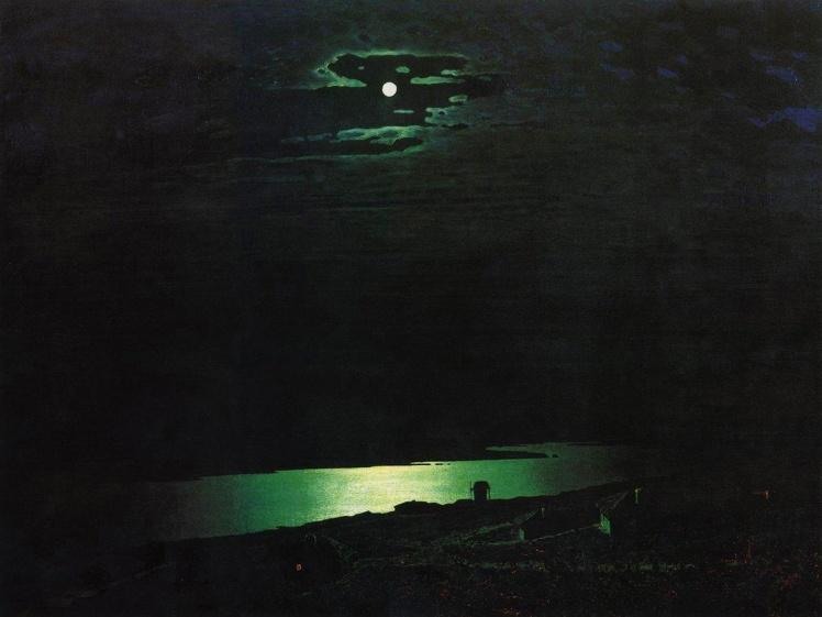 Архип Куинджи. Лунная ночь на Днепре.