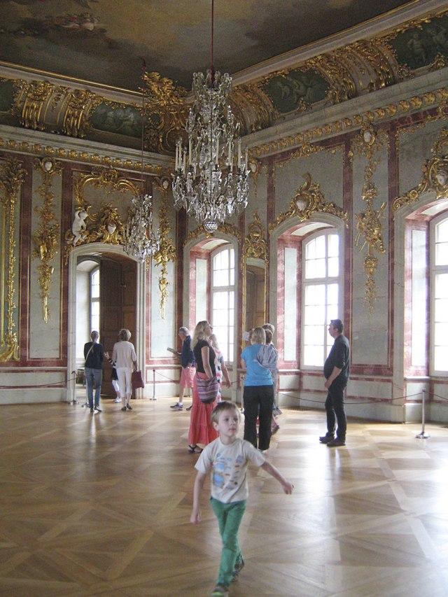 Золотой тронный зал Рундальского дворца.