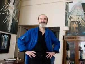Eric Boulatov, russian painter at his apartment-studio. Paris, 04.04.2007.