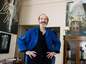 Eric Boulatov, russian painter at his apartment-studio. Paris, 04.04.2007.