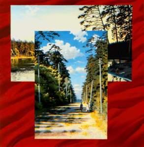 Эрик Булатов. Два пейзажа на красном фоне. 1972-1974