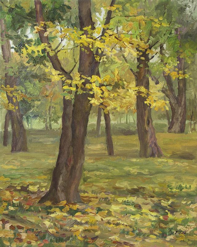 """Наталия Новикова. Картина """"Лефортово"""". Холст, масло, 50х40, 2006."""