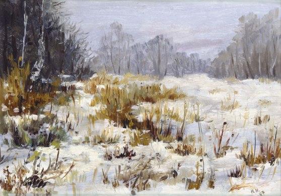 "Картина Наталии Новиковой ""Снега"". 1997 г."