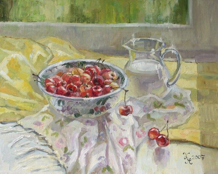 "Картина ""Черешня"". Холст, масло, 40х50 см, 2007 г."
